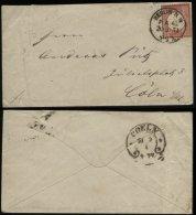 S1908 DR Brustschild Briefumschlag, Gebraucht Berlin P.A. 40 - Hufeisen Stempel 4 / 16M Köln 1874 , Bedarfserhaltung. - Briefe U. Dokumente