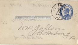 TR-L175 - ETATS-UNIS Entier Postal De La The Pennsylvania Railroad Company Carte De Chargement 1910 - Ganzsachen