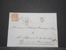 SUISSE - Env Pour La France - Janv 1857 - A Voir - P17179 - Lettres & Documents