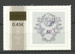 Estland Estonia 2011 Meine Marke Mit Überdruck 0,45 EMS 728 MNH - Estonie