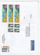 Francia 2010    - Lettera. .   X L´Italia Affrancata Con 7 Stamps - France