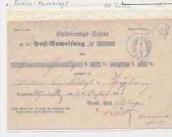 Baden - Postablage Schein   (be3122 ) Siehe Scan ! - Bade