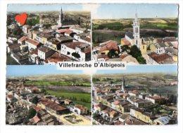 04424-LE-81-EN AVION AU-DESSUS DE ...VILLEFRANCHE-d'ALBIGEOIS-Vue Générale-L' Eglise - Villefranche D'Albigeois