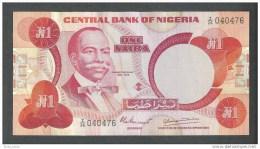 NIGERIA  1 NAIRA   BANK NOTE - Nigeria