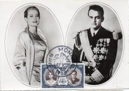 Monaco Carte Maximum Mariage Princier 1956 - Maximum Cards