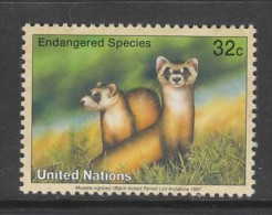 TIMBRE NEUF DES NATIONS UNIES N. Y. - PUTOIS D'AMERIQUE A PIEDS NOIRS (MUSTELA NIGRIPES) N° Y&T 722 - Timbres