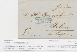 Baden   Vorphila  -Beleg   (be3079 ) Siehe Scan ! - [1] ...-1849 Precursores