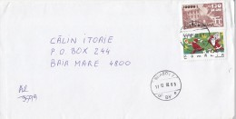 3962FM- STAMP'S FACTORY, CHRISTMAS, SANTA CLAUS, STAMPS ON REGISTERED COVER, 2002, ROMANIA - Lettres & Documents