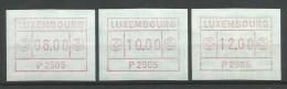 TIMBRES D´AFFRANCHISSEMENT DU LUXEMBOURG  N° 1  (P2505) - (SERIE INDIVISIBLE (6F,10F Et 12F)NEUFS SANS CAHARNIERE. - Postage Labels