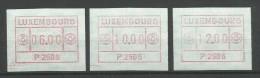 TIMBRES D´AFFRANCHISSEMENT DU LUXEMBOURG  N° 1  (P2506) - (SERIE INDIVISIBLE (6F,10F Et 12F) NEUFS SANS CAHARNIERE. - Postage Labels