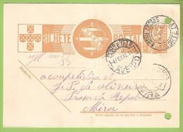 História Postal - Filatelia - Carimbo Ambulância Norte IV - Inteiro Postal - Postal Stationery (Postal C/ 2 Furos) - Postal Services