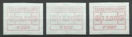 TIMBRES D´AFFRANCHISSEMENT DU LUXEMBOURG  N° 1  (P2507) - (SERIE INDIVISIBLE (6F,10F Et 12F) NEUFS SANS CAHARNIERE. - Postage Labels