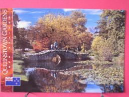 Carte Pas Très Courante - Nouvelle Zélande - Queenstown Gardens - Joli Timbre - Scans Recto-verso - Nouvelle-Zélande