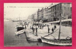 83 VAR TOULON, Le Carré Du Port Et Quai De Cronstadt, Animée, Bateaux, 1910, (Marius, Bar, Toulon) - Toulon