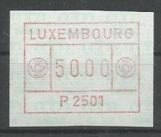 TIMBRE D´AFFRANCHISSEMENT DU LUXEMBOURG  N° 1  (P2501) - (50F) NEUF SANS CAHARNIERE. - Postage Labels