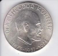 MONEDA DE PLATA DE AUSTRIA DE 50 SHILLING DEL AÑO 1973 THEODOR KORNER (COIN) SILVER - ARGENT. - Austria