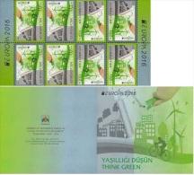 Az  1138-1139 MNH** Azerbaijan Aserbaidschan 2016 Europe Stamps 2016 Sheetlet Of 8 Think Green M - 2016