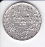 MONEDA DE PLATA DE BOLIVIA DE 20 CENTAVOS DEL AÑO 1909  (COIN) SILVER,ARGENT. - Bolivia