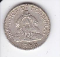 MONEDA DE PLATA DE HONDURAS DE 20 CENTAVOS DEL AÑO 1958  (COIN) SILVER,ARGENT. - Honduras