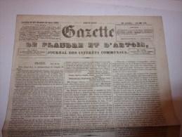 La Gazette De Flandre Et D'Artois. Journal Des Intérêts Communaux. Lundi 27 Et Mardi 28 Mai 1850. - 1850 - 1899