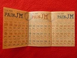 TICKETS PAIN CACHET MONTPELLIER RAVITAILLEMENT - Historical Documents