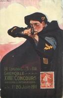 A-16 4311 :  GRENOBLE REPRODUCTION AFFICHE  30° CONCOURS DE TIR 1911 - Grenoble