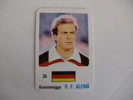 Football Futebol Germany Rummenigge Portugal Portuguese Pocket Calendar 1986 - Calendriers