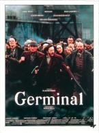"""AUTOGRAPHE Gérard DEPARDIEU SUR FICHE DU FILM """"GERMINAL"""" (Magazine Première) - Autographs"""