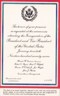 Invitation To Inauguration Of President Jimmy Carter And Vice President Walter Mondale - Inaugurations