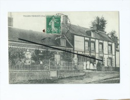 CPA   - Villers Vermont    - Boucherie Hermanville - France
