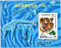 N° Yvert & Tellier 360 - Bloc Feuillet De Corée Du Nord (1999) - Zoo Central - Tête De Tigre Coréen (JS) - Korea, North