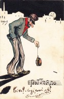 VANDOCK-SERIE MUSICALI- CARICATURE_HUMOR_NOTTURNO-VG 1902 X ONEGLIA-2 SCAN-BEN CONSERVATA- - Illustratori & Fotografie