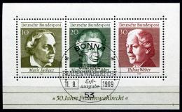 BRD - Michel Block 5 = 596 / 598 - OO Gestempelt (A) - 50 Jahre Frauenwahlrecht - Wert: 1,00 Mi - Gebraucht