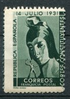ESPAGNE - Franquicia Postal - Cortes Constituyentes - Vrijstelling Van Portkosten
