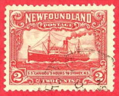 Canada Newfoundland # 164 - 2 Cents - O F/VF - Dated  1929-31 - Steamship 'Caribou' / Bateau à Vapeur 'Caribou' - 1908-1947