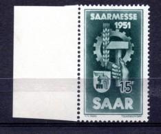 SARRE. AÑO 1951. Mi 306. (MNH) - 1947-56 Protectorate
