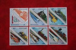 Surinam / Suriname 1985 Railways Zug Trein Train (ZBL 455-466 Mi 1134-1145 Sc 712-723) POSTFRIS / MNH ** - Surinam