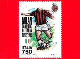 ITALIA - Usato - 1993 - Milan Campione D´Italia 1992-1993 - 750 L. • Giocatore Del Milan - 1991-00: Usados