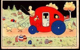 EASTER ORIGINAL Ca1900 POSTCARD ARTIST SIGNED JAMES PENNYLES BELGIUM UK FLAG - Ohne Zuordnung
