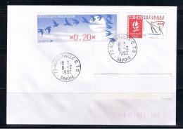 ALBERTVILLE, 2.30+0.20 Avec DIVA 0.20, Oblitération ALBERTVILLE C.T.O. 8/02/92, Jour De L´ouverture Des J.O. 92 - Patinage Artistique