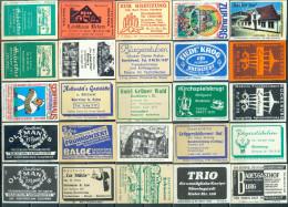 25 Alte Gasthausetiketten Aus Hamburg Und Umgebung, Deutschland Mit Postleitzahl 2000, #16 - Luciferdozen - Etiketten
