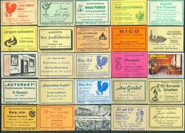 25 Alte Gasthausetiketten Aus Hamburg Und Umgebung, Deutschland Mit Postleitzahl 2000, #17 - Luciferdozen - Etiketten