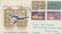 Enveloppe FDC  1er Jour   NOUVELLES  HEBRIDES   Série  Courante   1963 - FDC