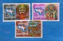 Indonesia **- 1969 -  Tourisme à Bali .   Yvert.  569 à 571  MNH    Vedi Descrizione - Indonesia