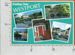 CARTOLINA NV IRLANDA - Greetings From WESTPORT - Panorama - Vedutine - Saluti - 10 X 15 - Mayo