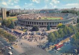 "03989 ""TORINO - STADIO COMUNALE"" ANIMATA, AUTO ANNI '60.  CART.  NON SPED. - Stadiums & Sporting Infrastructures"