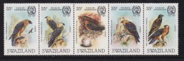 SWAZILAND, 1983, Mint Never  Hinged Stamps, Strip Vultures, 424-428 ,#6778 - Swaziland (1968-...)