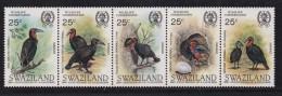 SWAZILAND, 1985, Mint Never  Hinged Stamps, Strip John Audubon, 480-484 ,#6780 - Swaziland (1968-...)