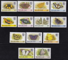SWAZILAND, 1987, Mint Never  Hinged Stamps, Definitives Butterflies Complete, 515-527 ,#6781 - Swaziland (1968-...)
