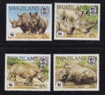 SWAZILAND, 1987, Mint Never  Hinged Stamps, WWF White Rhinoceros, 528-531, #6782 - Swaziland (1968-...)
